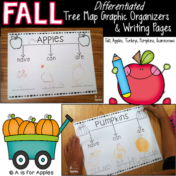 Fall Tree Map Graphic Organizers & Writing