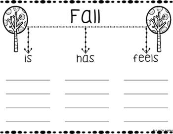 Fall Tree Map Graphic Organizers & Writing