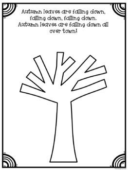 Fall Tree Math Counting Craft/ Craftivity