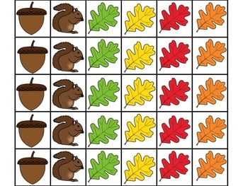 Fall Tree Math Mats