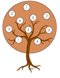 Fall Tree Number Matching