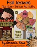 Fall Tree Number Sense Activity {Representing Numbers 0-20}