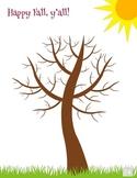 Fall Tree Painting Activity FREEBIE!