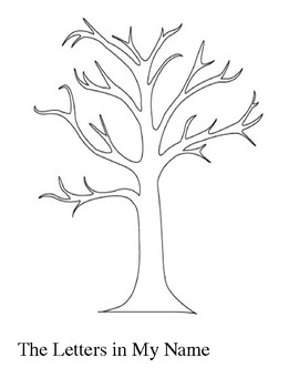 Fall Tree : The Letters In My Name