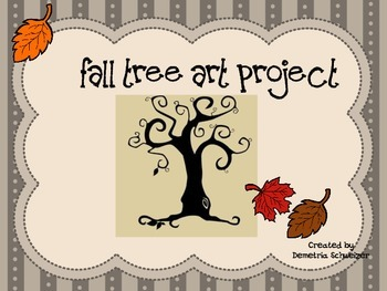 Fall Tree Warm Color Leaves Art Project