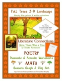 Language Arts Poetry with Fall Art - How to Draw Trees with 3-D Landscaping