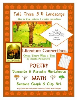 Language Arts Poetry with Fall Art - How to Draw Trees wit