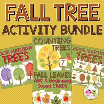 Fall Trees Activity Bundle | Autumn Leaves Activities | Trees Study Activities