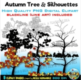 Fall Trees Clipart | Autumn Trees Clip Art for Personal and Commercial Use