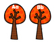 Fall Trees Letter Matching