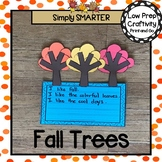 Fall Trees Writing Cut and Paste Craftivity