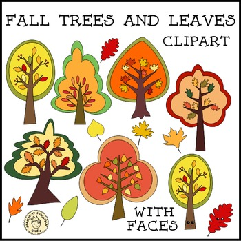 Fall Trees and Leaves Clipart