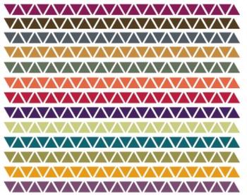 Fall Triangle Borders, Digital Clipart, Triangle Border Set #134