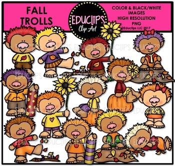 Fall Trolls Clip Art Bundle {Educlips Clipart}