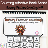 Fall Turkey Feather Counting Adaptive Book (#1-10)