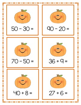 Fall Two Digit Addition and Subtraction Common Core 1.NBT.4 & 1.NBT.6