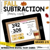 Fall Two and Three-Digit Subtraction BOOM Cards