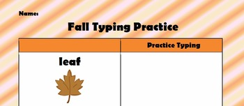 Fall Typing Practice