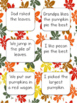 Fall Uh Oh Sentence Game