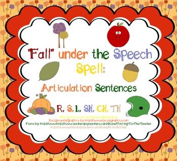 Fall Under the Speech Spell: Articulation Sentences Pack (