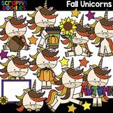 Fall Unicorns Clipart {Scrappin Doodles Clip Art}