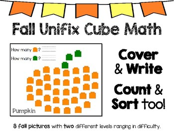 Fall Activity Unifix Cube Math
