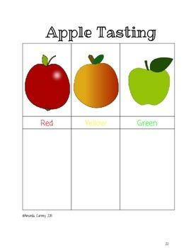 Fall Unit - Apples, Letter A, & Counting 11-20