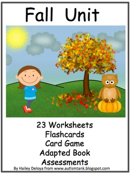 Fall Unit for Kids with Autism
