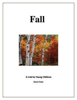 Fall Unit for Young Children