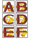 Fall Uppercase Alphabet Cards
