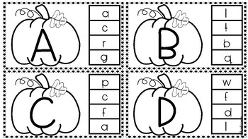 Fall Uppercase & Lowercase Letter Matching & Naming! Letter Recognition Bundle!