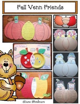 Fall Venn Friends: Comparison & Contrast Crafts Using A Venn Diagram