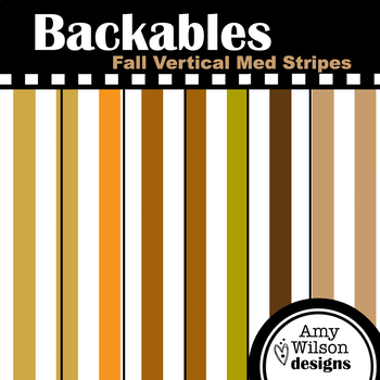 Fall Vertical Medium Stripes Backables