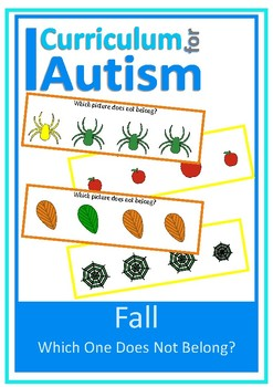 Fall Visual Discrimination, Color, Size, Autism, Special Education