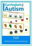 Fall Visual Discrimination, Color, Size, Autism, Special E