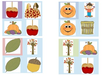 Fall Visual Discrimination cards