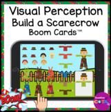Fall Visual Perceptual Build a Scarecrow BOOM Cards for Oc