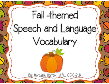 Fall Vocabulary: An Interactive Book