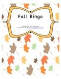 Fall Vocabulary Bingo