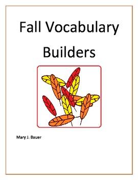 Fall Vocabulary Builders