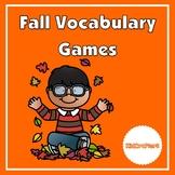 Fall Vocabulary Card Game
