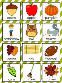 Fall Vocabulary Cards by The Tutu Teacher | Teachers Pay ...