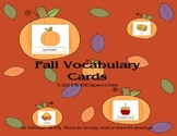 Fall Vocabulary Cards