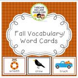 Fall Vocabulary Cards for Preschool and Kindergarten
