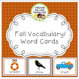 Fall Vocabulary Cards for Preschool and Kindergarten
