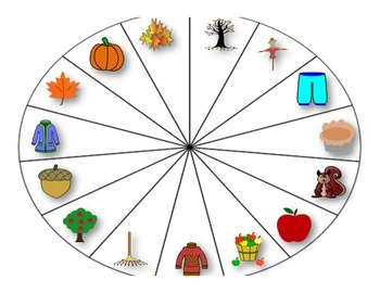 Fall Vocabulary Cariboo/Spinner