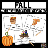 Fall Vocabulary Clip Cards Autumn