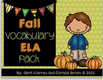 Fall Vocabulary ELA Pack