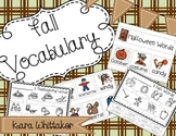 Fall Vocabulary (Fall, Halloween, & Thanksgiving Words Included!)