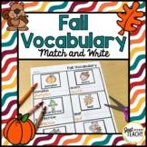 Fall Vocabulary Match and Write